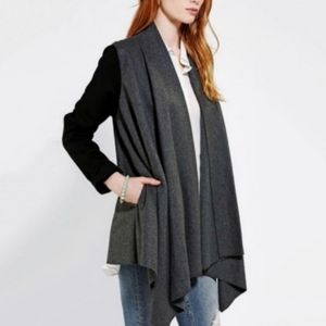 Starring At Stars Urban Outfitters Wool Blend Open Front Drape Coat Cardigan XS